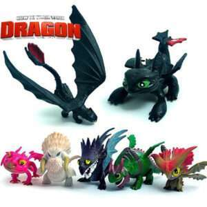 How to train your dragon figure set