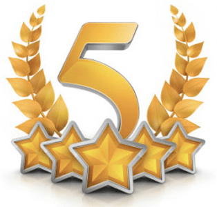 Five star ratings golden picture