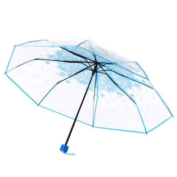 blue transparent umbrella