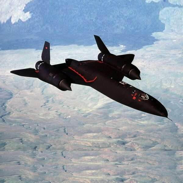 US AIR FORCE SR-71A BLACKBIRD JET FIGHTER MILITARY PLANE