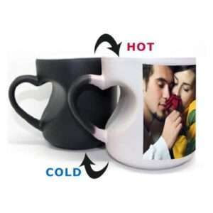 heart shaped magic mug