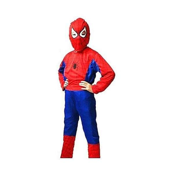 Red and Blue Spider Man Dress For Kids M-(5-6 yrs)