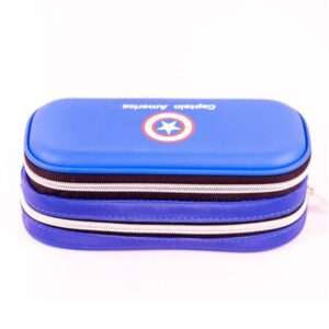 captain america sign fabric double layer pencil box