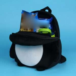 Children School Bag Black Penguin