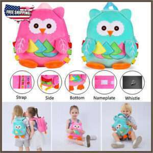 Children School Bag Blue Owl