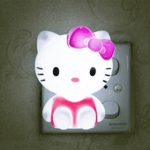 Hello Kitty LED Night Light AC220V Cartoon Night Lamp With US Plug Gifts For Kid/Baby/Children Bedroom Bedside Lamp