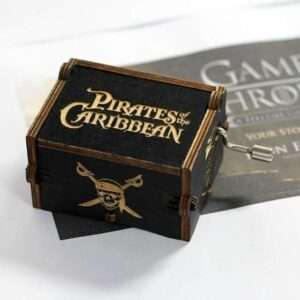 Pirates of Caribbean Wooden Music Box Black