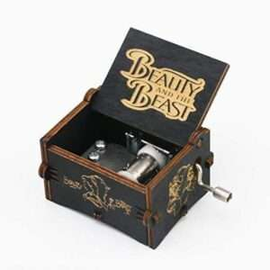 beauty and the beast hand crank music box..