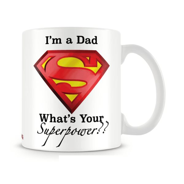 Superpower dad Mug fathers day gift