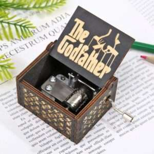 god father hand crank music box.