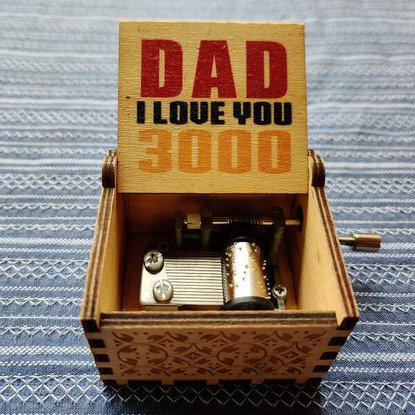 Dad I love YOU 300 Hand Cranked Wood Music Box
