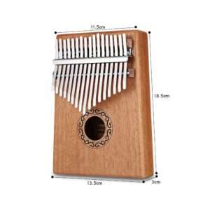 Mahogany Wood 17 Keys Acoustic Finger Thumb Piano Kalimba Music Instrument